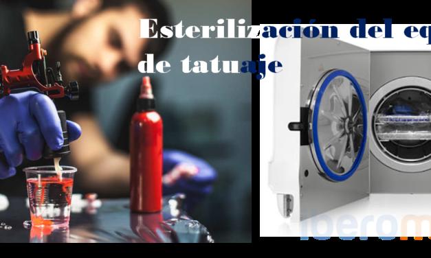 Esterilización del equipo de tatuaje