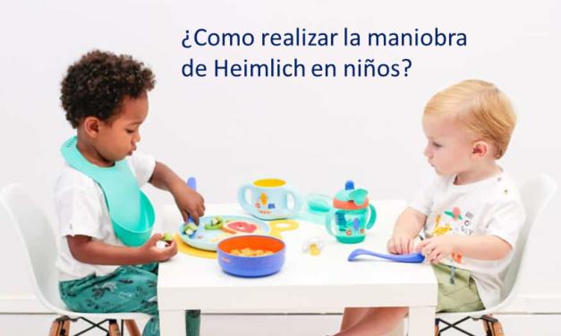 ¿Cómo realizar la maniobra Heimlich en bebés y niños?