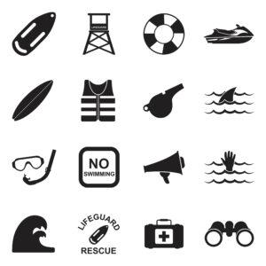 equipamiento para socorristas iconos